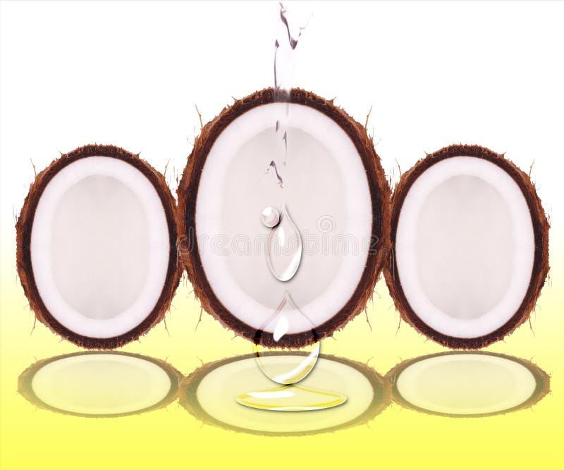 kropli kokosowa woda zdjęcia stock