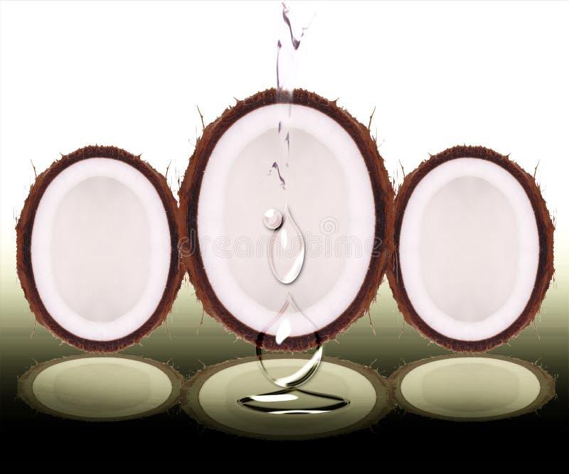 kropli kokosowa woda obrazy stock