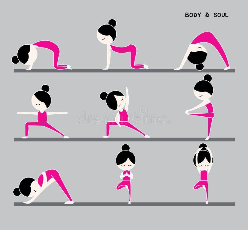 Kropp och anda royaltyfri illustrationer
