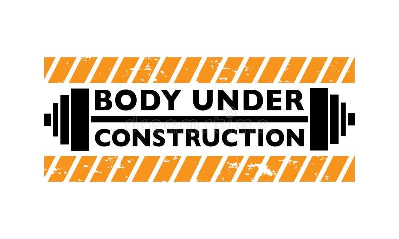 Kropp under konstruktionstypografi/sportmotivation royaltyfri illustrationer