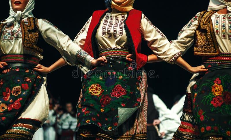 Kroppar av serbisk folklore royaltyfria bilder