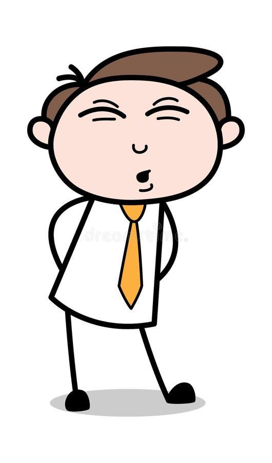 Kroppen smärtar - den kontorsaffärsmanEmployee Cartoon Vector illustrationen vektor illustrationer