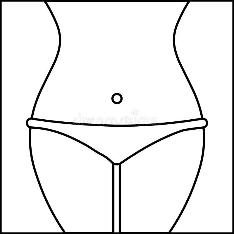Kroppkvinnadiagram symbol arkivfoto