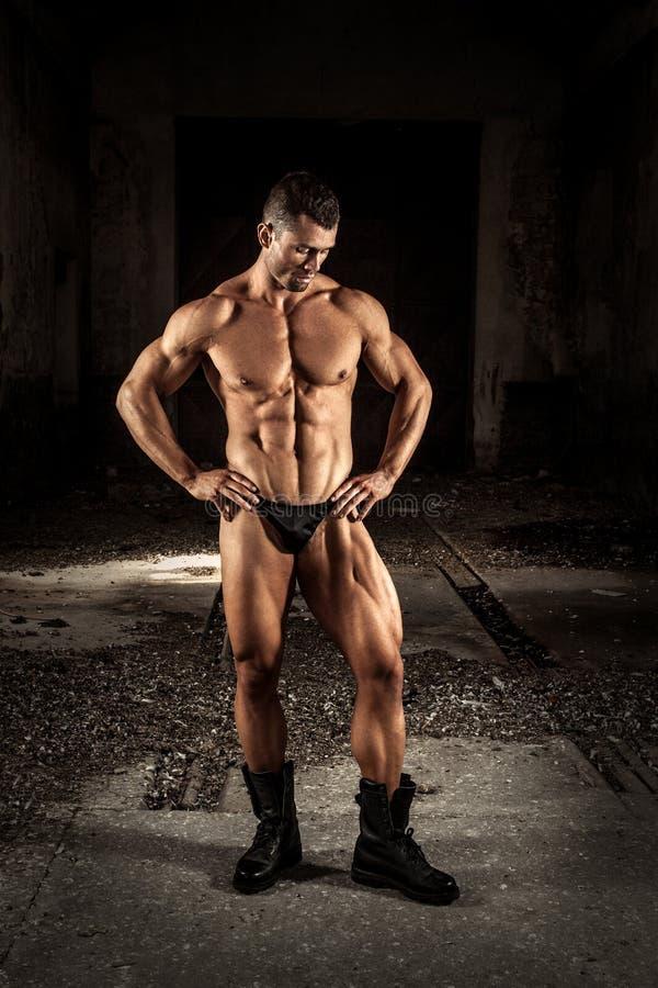 kroppsbyggare fotografering för bildbyråer