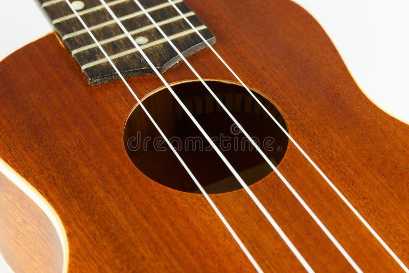 Kroppsdel av ukulelegitarren arkivbilder