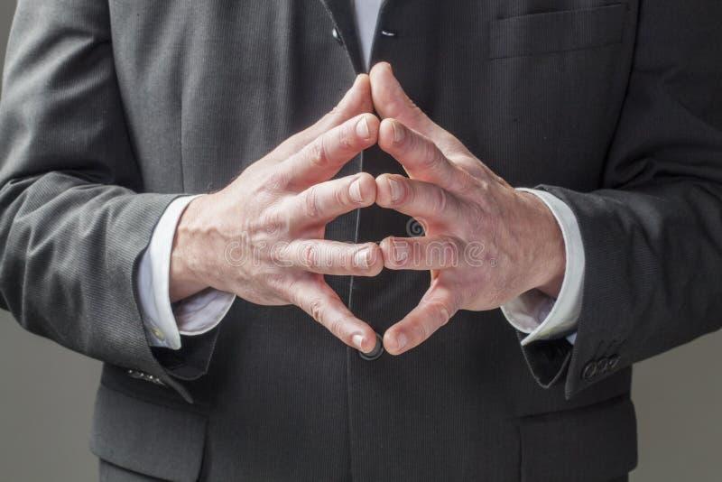 Kroppsspråk för företags ledarskap arkivbilder