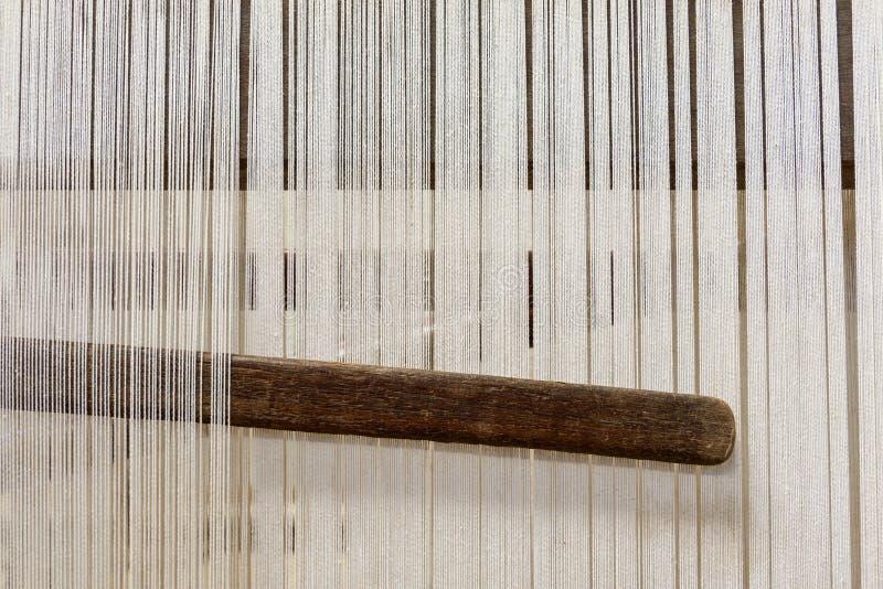 Krosienko w dywanik fabryce zdjęcia stock