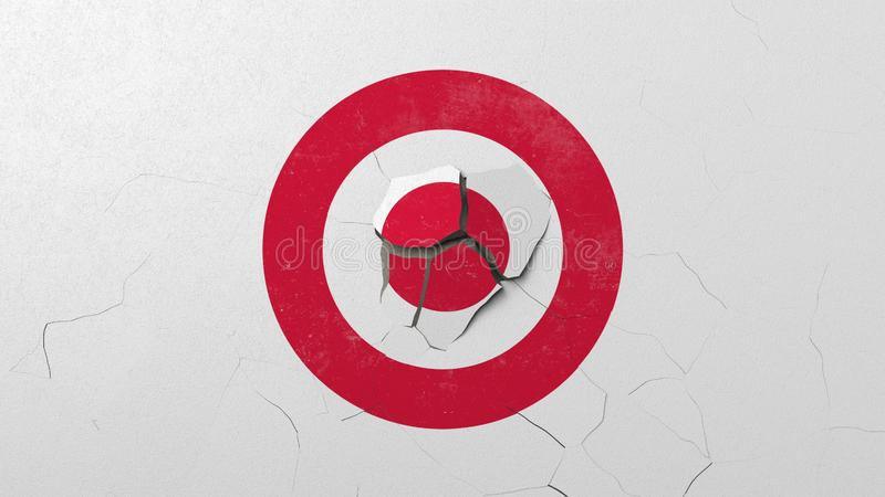 Krossa betongv?ggen med logo av m?let Krisen gällde den redaktörs- tolkningen 3D vektor illustrationer