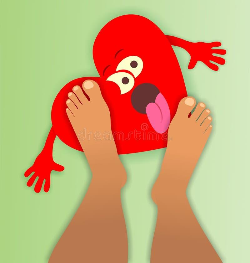 Krossad hjärta stock illustrationer