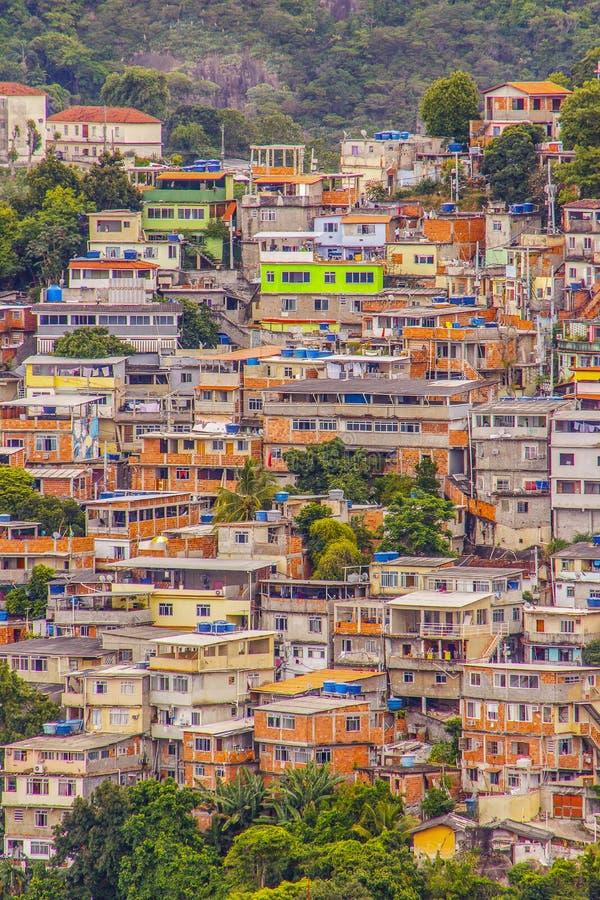 Krottenwijk in Copacabana Babylon royalty-vrije stock afbeeldingen