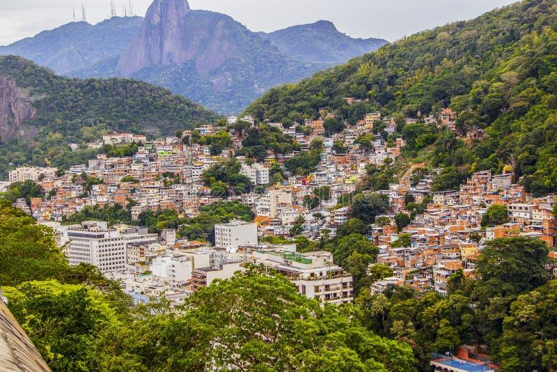 Krottenwijk in Copacabana Babylon stock afbeelding