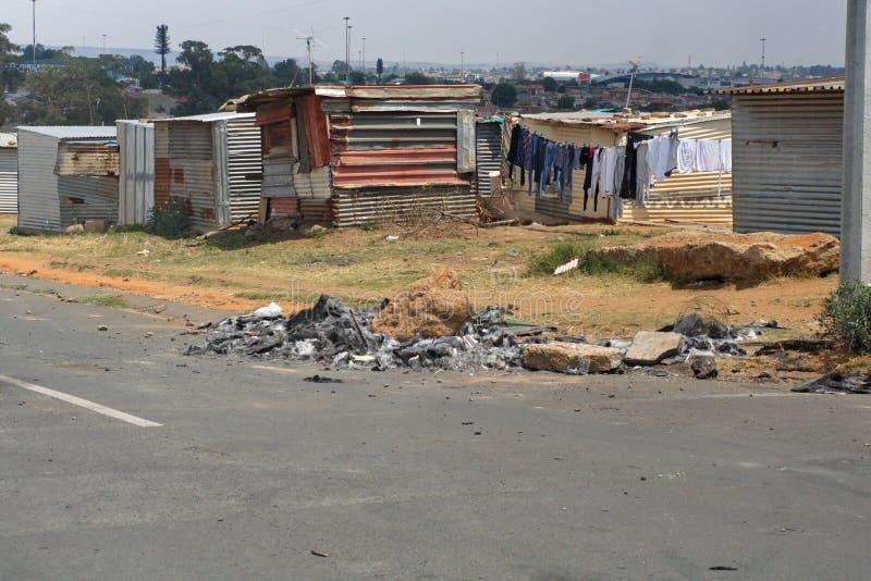 Krottenwijk in Soweto royalty-vrije stock afbeeldingen