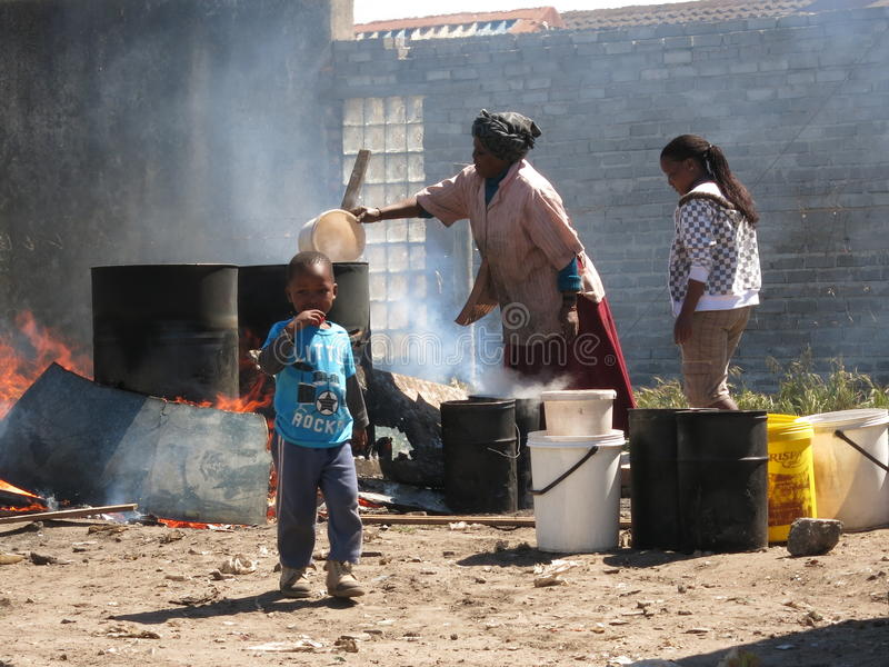 krottenwijken stock fotografie