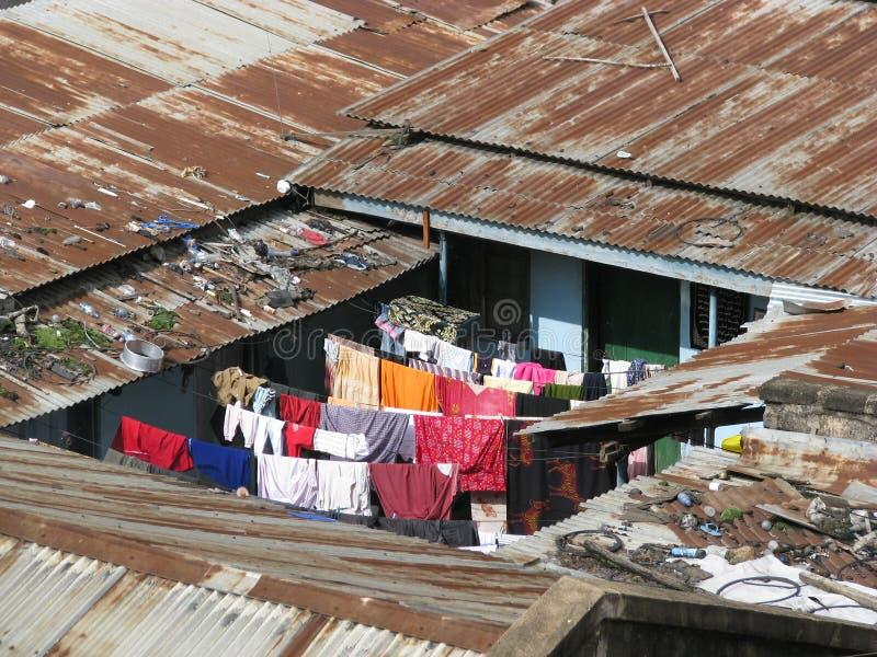 Krottenwijken in Afrika royalty-vrije stock foto