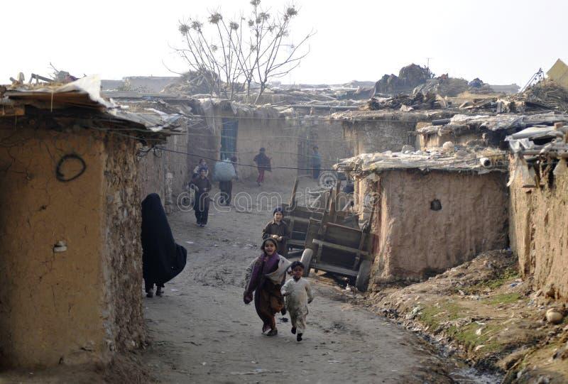 Krottenwijkgebied Islamabad stock afbeelding