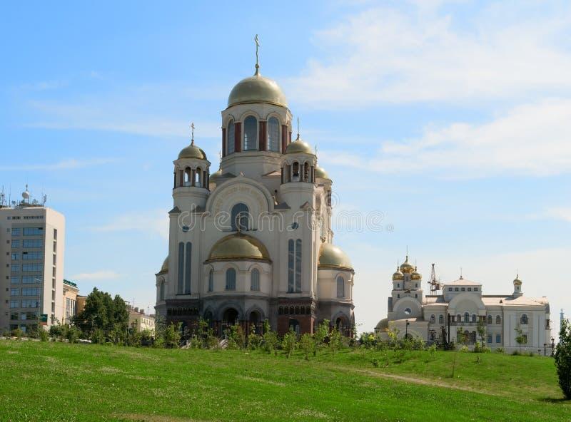 krovi jekaterinburg hram w Rosji obraz royalty free