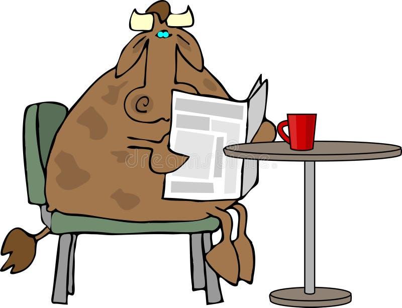krowa kawowa ilustracji