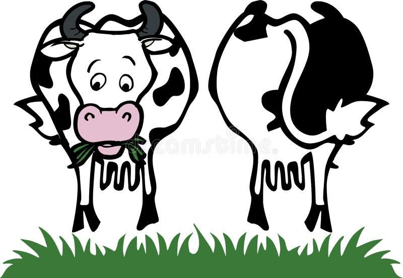 krowa tylny przód royalty ilustracja