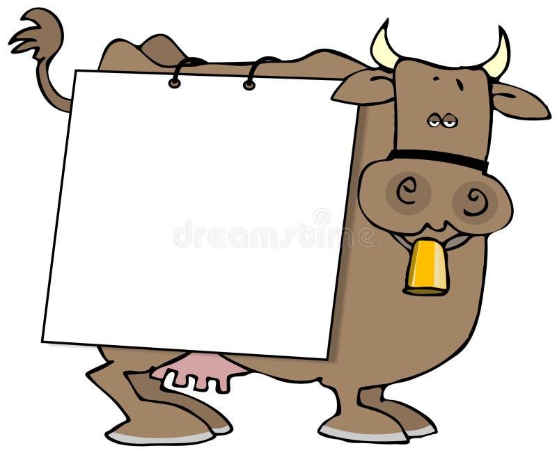 krowa znak royalty ilustracja