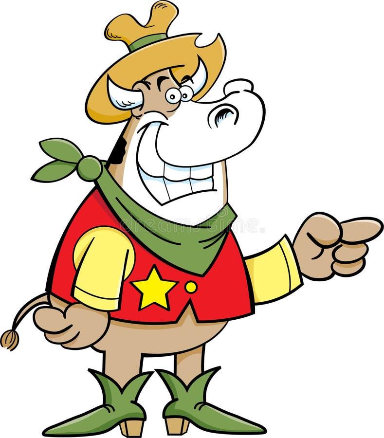 Krowy Chłopiec ilustracji
