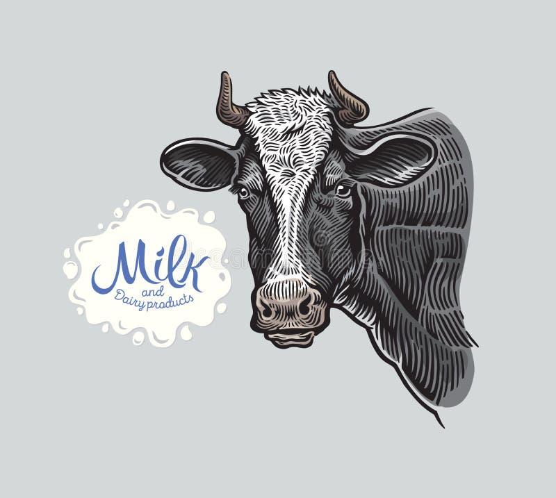 Krowy przewodzą, w grahic stylu ilustracji