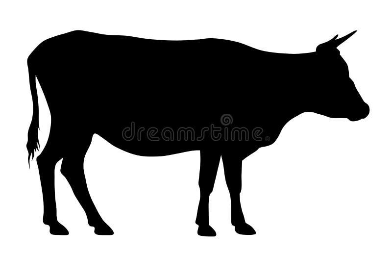 Krowy sylwetka royalty ilustracja
