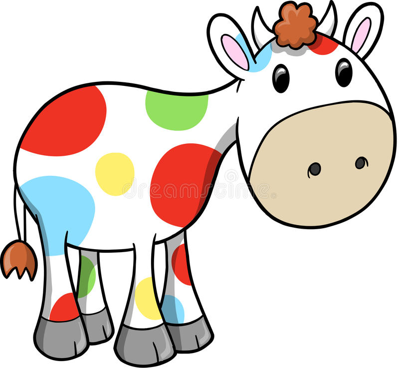 krowy szczęśliwy ilustracyjny tęczy wektor ilustracja wektor