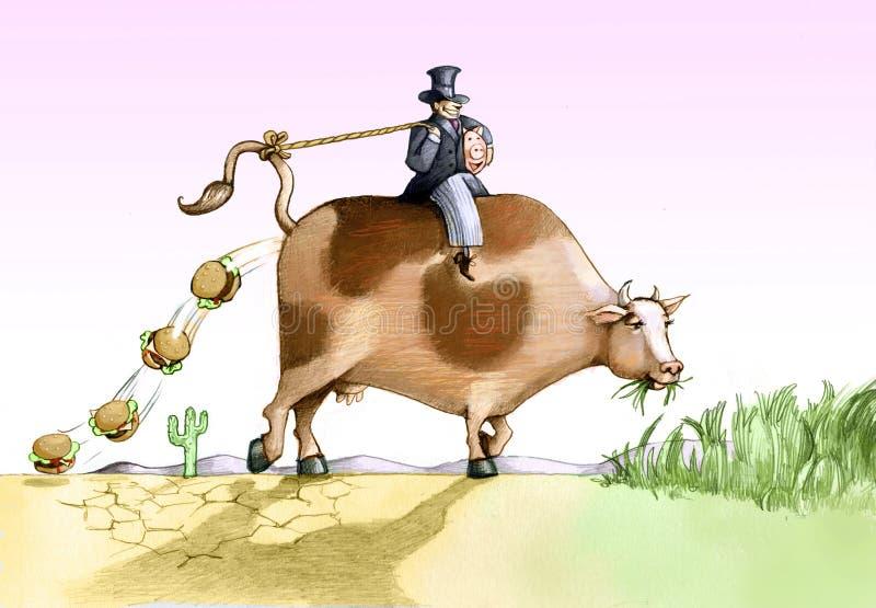 Krowy zabawa royalty ilustracja