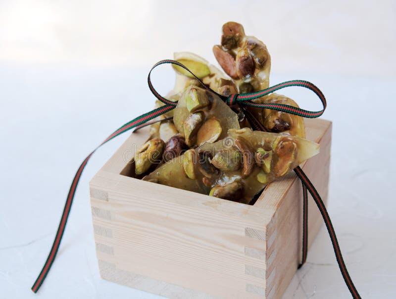 kruche orzeszki pistacji wstążki zdjęcie stock