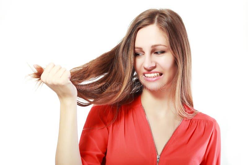 Kruchy włosy obrazy stock