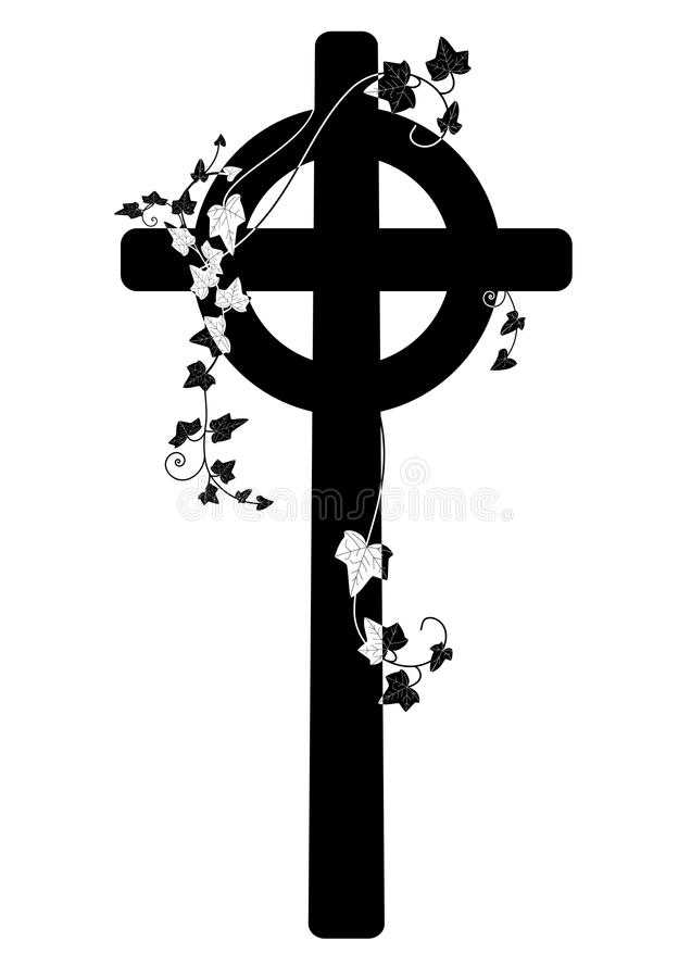 Krucyfiks i bluszcz royalty ilustracja
