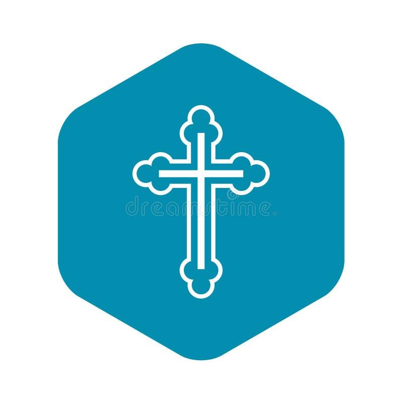 Krucyfiks ikona w prostym stylu ilustracja wektor