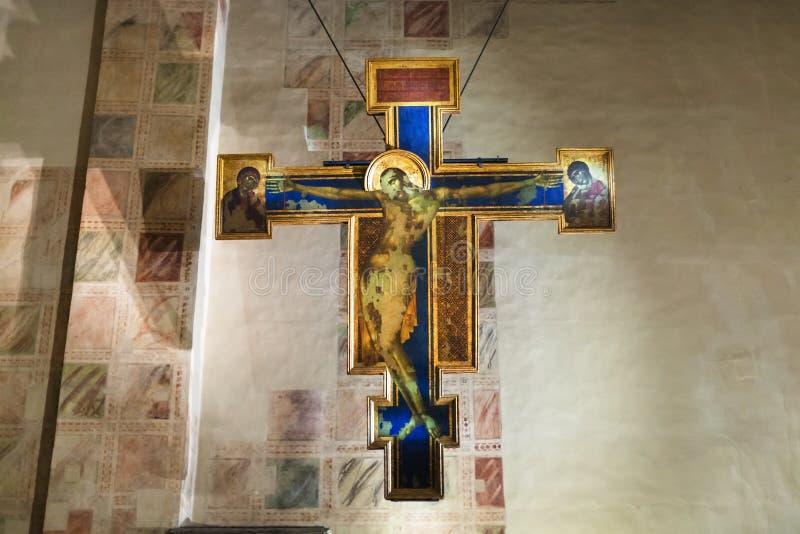 Krucyfiks w kaplicie bazylika Di Santa Croce fotografia stock
