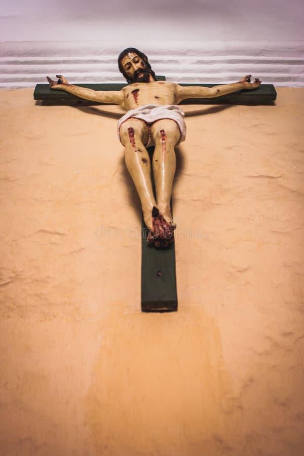 Krucyfiks w Santa Catalina monasterze, Arequipa, Peru zdjęcia stock