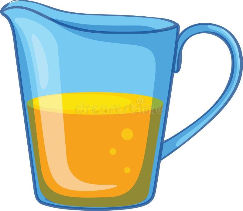Krug Orangensaft stock abbildung