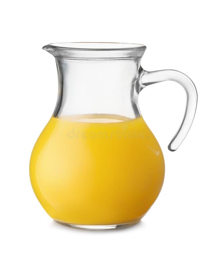 Krug Orangensaft lizenzfreie stockfotos