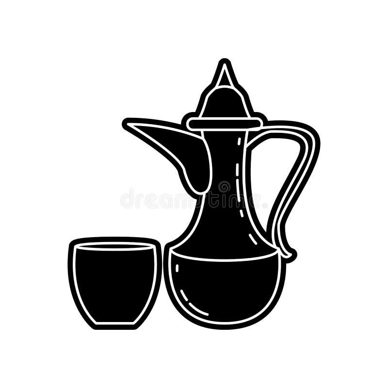Krug- und Schalenikone Element von arabischem f?r bewegliches Konzept und Netz Appsikone Glyph, flache Ikone f?r Websiteentwurf u lizenzfreie abbildung