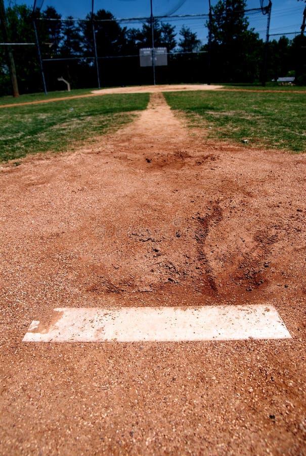 Krugdamm auf Baseballfeld lizenzfreie stockfotografie
