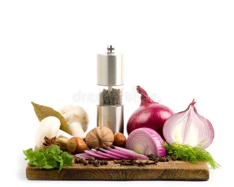 Kruid en groenten stock foto's