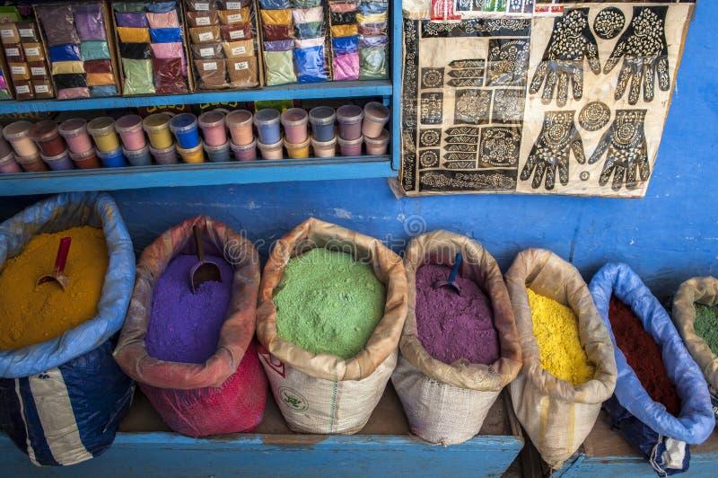 Kruid in Medina van Chefchaouen in Marokko stock afbeeldingen
