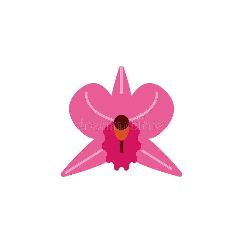 Kruid, orchideepictogram Element van kruidpictogram voor mobiele concept en webtoepassingen Het gedetailleerde Kruid, orchideepic vector illustratie