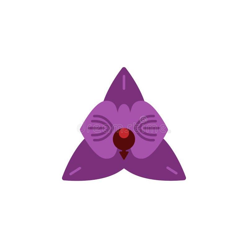 Kruid, orchideepictogram Element van kruidpictogram voor mobiele concept en webtoepassingen Het gedetailleerde Kruid, orchideepic royalty-vrije illustratie