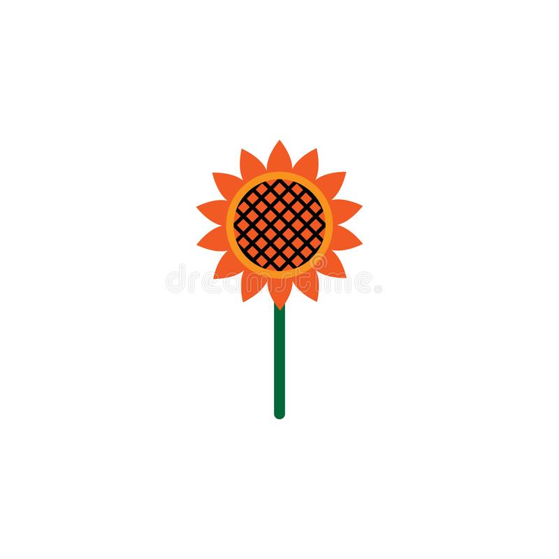 Kruid, zonnebloempictogram Element van kruidpictogram voor mobiele concept en webtoepassingen Het gedetailleerde Kruid, zonnebloe stock illustratie