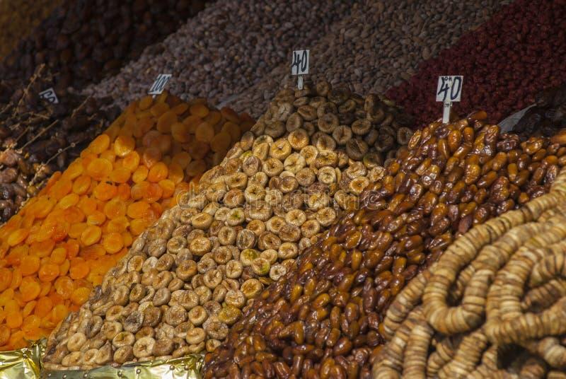 Kruiden in een Souk in Marrakech royalty-vrije stock fotografie