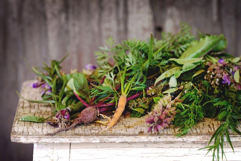 Kruiden en groenten royalty-vrije stock afbeeldingen