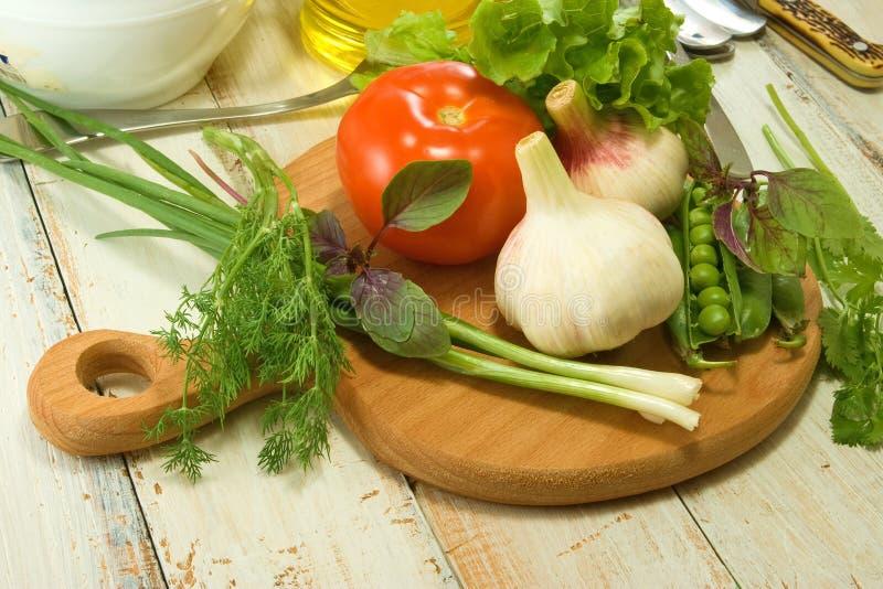 Kruiden en groentenclose-up stock foto