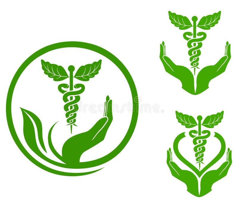 Kruiden geneeskunde royalty-vrije illustratie