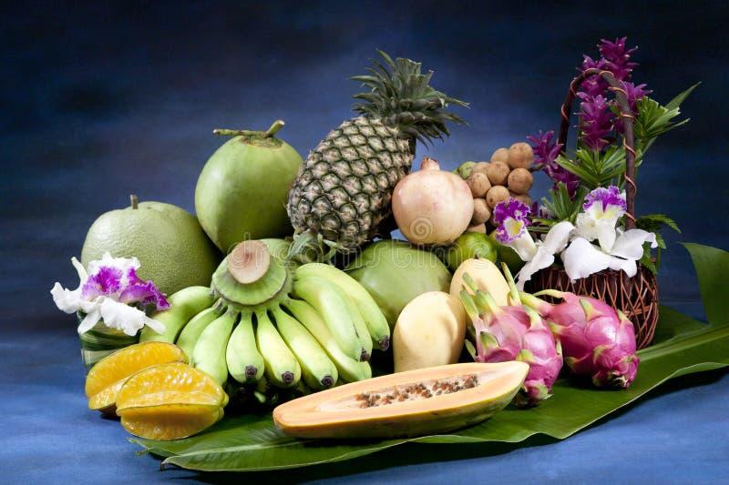 Kruidende Thaise vruchten stock foto's