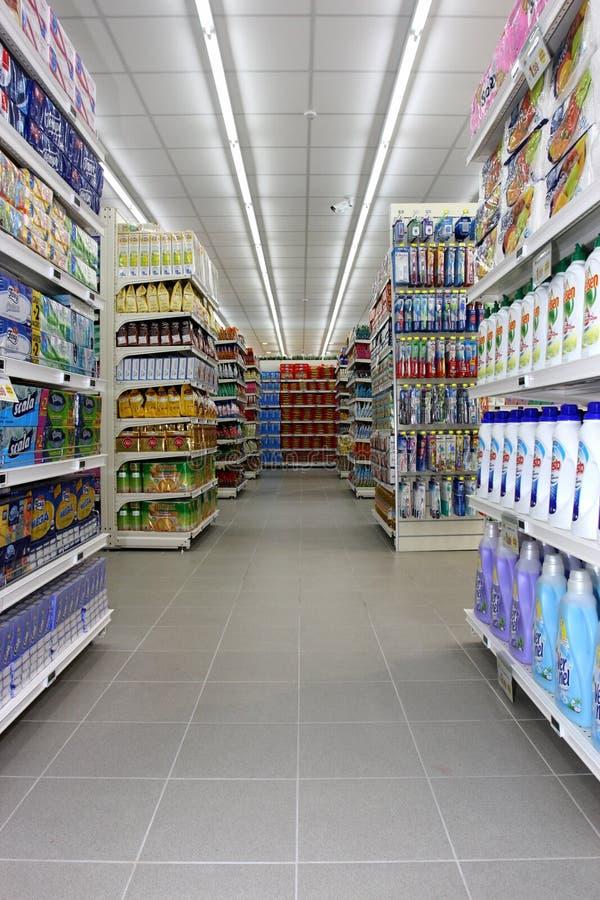 Kruidenierswinkelwinkel stock foto