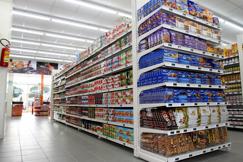 Kruidenierswinkelwinkel stock fotografie